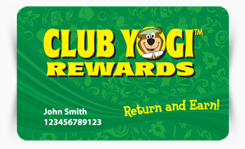 Club Yogi Rewards card
