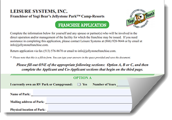 Camp Jellystone Franchise Application