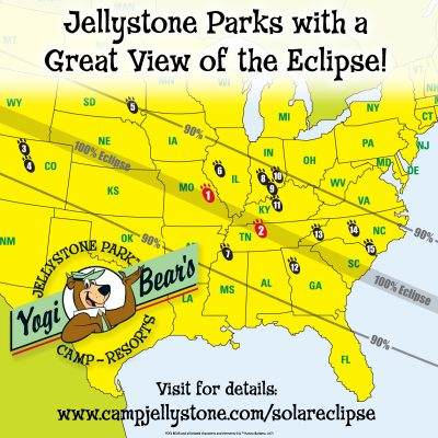 15 Jellystone Parks Are In The Path Of The Solar Eclipse - Yogi Bear's Jellystone Park Franchise 5