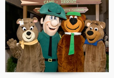 Cindy Bear, Ranger Smith, Yogi Bear, Boo Boo costumes